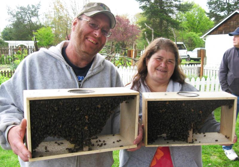 LCBA Apprentice Class Cody & Linnea with their new bees