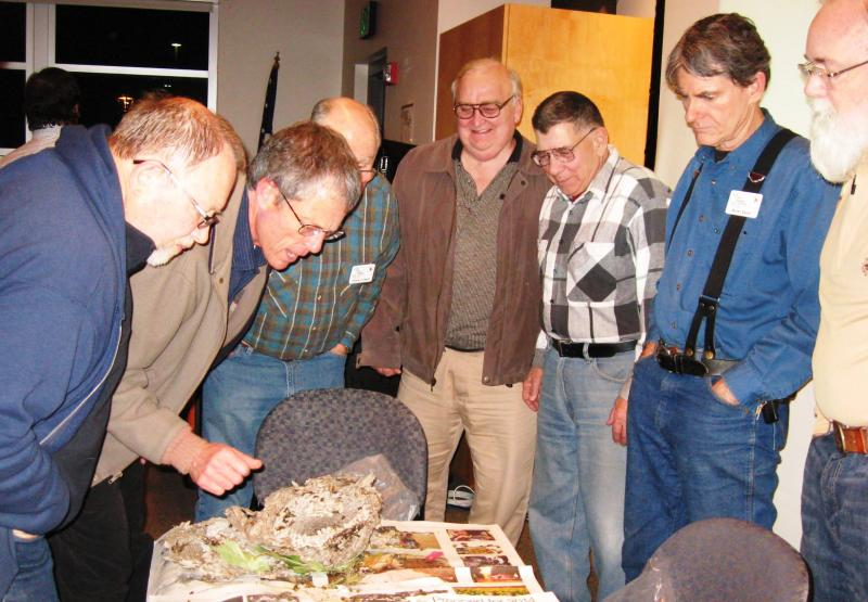 Carl Roush fields yellow jacket questions after Jan 8 2014 talk at Lewis County