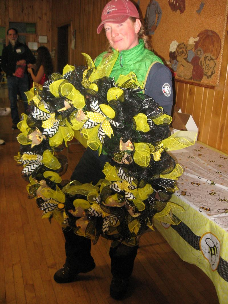 LCBA member Nancy Toenyan won the bee wreath