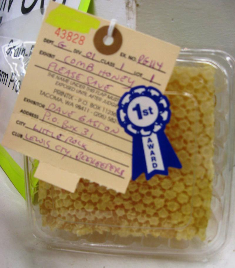 Prize-winning comb honey